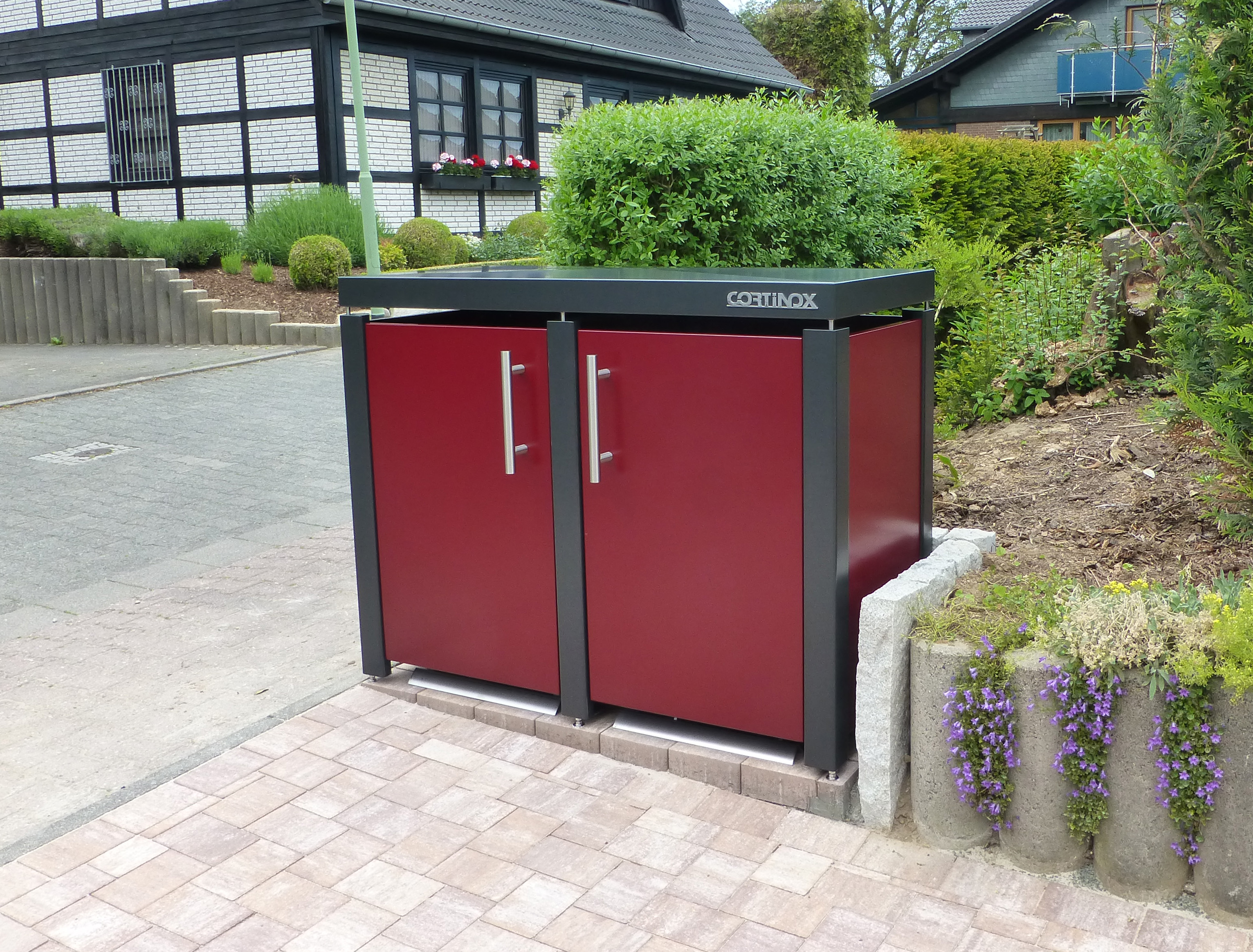farbige m lltonnenbox kaufen m lltonnenbox anthrazit grau wei. Black Bedroom Furniture Sets. Home Design Ideas