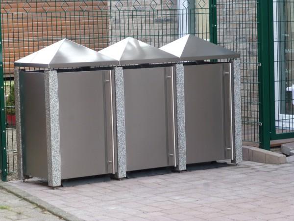 Müllbox aus Granit & Edelstahl